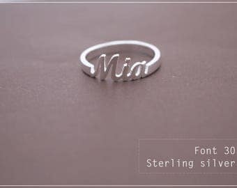 Name Ring -Personalized Name Ring - Custom name ring - Baby Name- Your name ring - New Mom Ring - Bridesmaid Jewelry-Birthday gift.#RF30