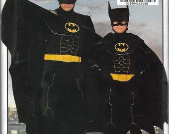 """Vintage 1992 Butterick 6377 Boy's Batman Returns Costume Sewing Pattern Size S - M - L Chest 26"""" - 32"""" UNCUT"""