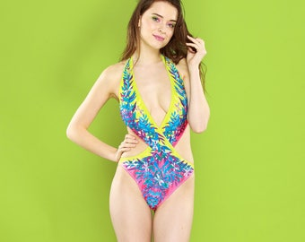 Tropical Plants - monokini