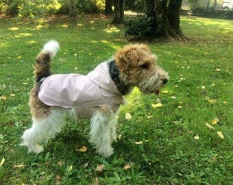 Trendy  dog raincoat, made in Italy