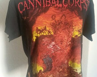 Cannibal Corpse bleach and distressed t-shirt