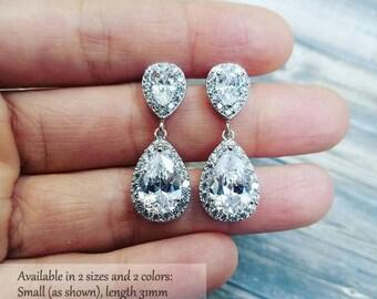 Bridesmaid Earrings, Bridal Earrings, Wedding Earrings, Crystal Teardrop Earrings, Bridesmaid Jewelry, Bridal Jewelry, Bridesmaid Gift