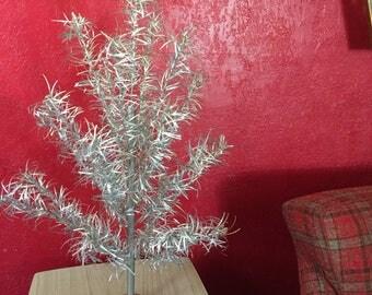 Vintage Mid Century Aluminum Christmas Tree ~ 3u0027 Tall