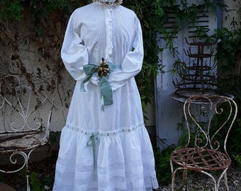 Sold Vintage,  Wedding Skirt ,French Vintage, Antique Clothes, French Embroidery, Wedding Dress , Vintage Wedding, Trousseau,  Bride
