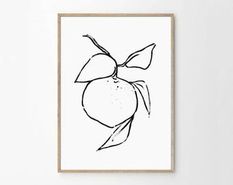 Abstract fruit art etsy for Minimal art vzla