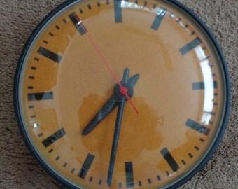 Vintage,Retro, Mid Century, SIMPLEX  Industrial/ Schoolhouse  Wall Clock,Mid Century Wall clock,Industrial Clock