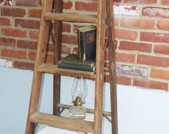 Vintage Berg's Special Large Wood Step Ladder