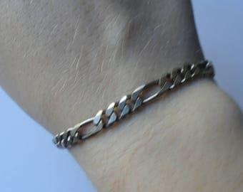 """Vintage Italian Sterling Silver Chain Bracelet (6.5"""")"""