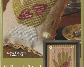 KIT - Two Hearts by Blackbird Designs - Loose Feathers Club #34 - OOP Kitted Cross Stitch Pattern