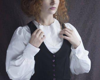 black velvet sleeveless vest