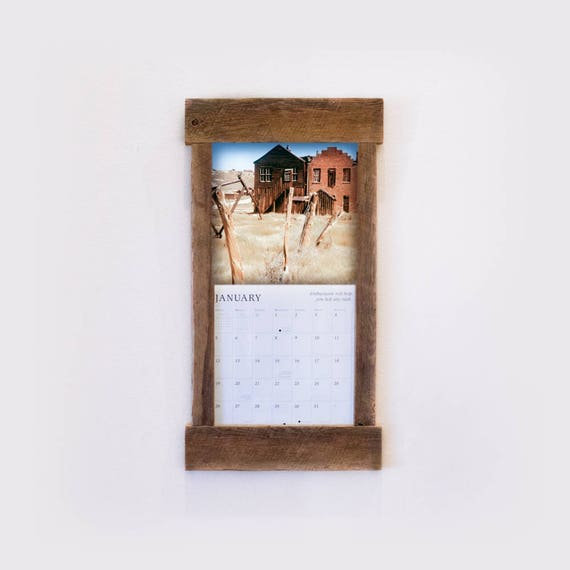 Calendar Wood Holder : Rustic barn wood calendar holder reclaimed frame