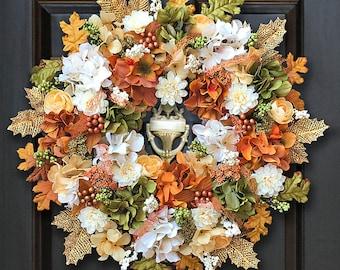 Front Door Wreaths, Fall Wreaths, Autumn Wreaths, Fall Floral Wreaths, Fall Harvest Wreath, Fall Flower Wreath, Thanksgiving Wreaths