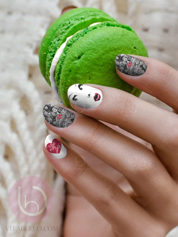 I love lucy nail decal tv show nail art nail design lucy like this item prinsesfo Choice Image