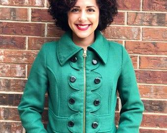 Tulle Green Coat