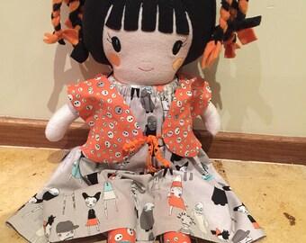 """OOAK Cloth Doll 23"""""""