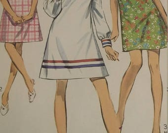 Vintage Simplicity 7716 Sewing Pattern Size 12 One-Piece Dress in Two Lengths