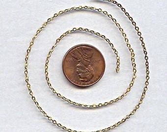 3 Feet Vintage Solid Brass Aged 2mm. Cable Beading Chain Ch49