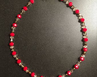 """16"""" Red Beaded Necklace"""
