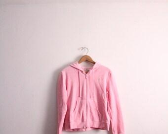 Pastel Pink Velour 90s Hoodie