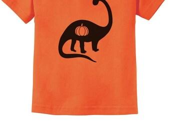 Halloween Dinosaur Jack O' Lantern Pumpkin Infant Kids T-Shirt