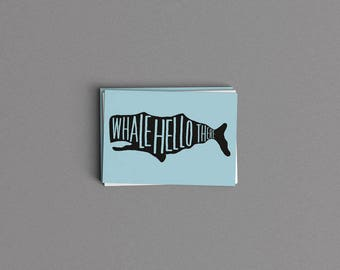 Whale Hello There Card or Print