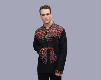 Men's Tribal Gypsy shirt - Ethno top  - burning men outfit