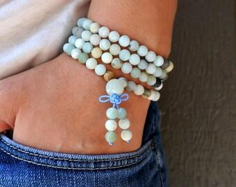 108 Mala Bead, Gemstone Bracelet, Mala Bracelet, Mala Bead, Bead Bracelet,Woman Gift,Yoga Meditation Japa Mantra Bead