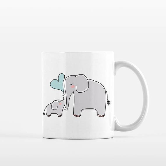 Mom Valentines Day Gift for Mom from Son Mom and Baby Elephant Mug New Mom Gift for Mom Mug Grandma Mug New Grandma Gift Mom Coffee Mug