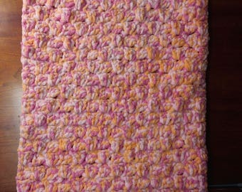 Baby Blanket - Pink and Orange Sherbert