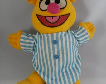 The Muppets Fozzie Bear Softie Plush Stuffed Doll 1984 Direct Connect Toy Lovey 9""