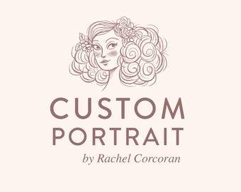 Custom Portrait - Family Portrait - Personalized Gift - Pet Portrait - Couple Portrait - Custom Illustration Print by Rachel Corcoran