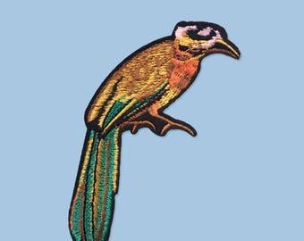Patch ironfix pheasant bird  / DIY appliques et écusson textile / Malicieuse shop