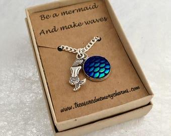 Mermaid Necklace, Mermaid Pendant, Mermaid Jewellery, Mermaid Gifts, Mermaid  Jewelry, Gift Ideas, Christmas Gift,  Beach Necklace