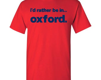 I'd Rather Be In...Oxford T Shirt - Red