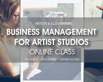 50% OFF SALE Business management for artist studios online class, online workshop, illustrator workshop, business management for artists