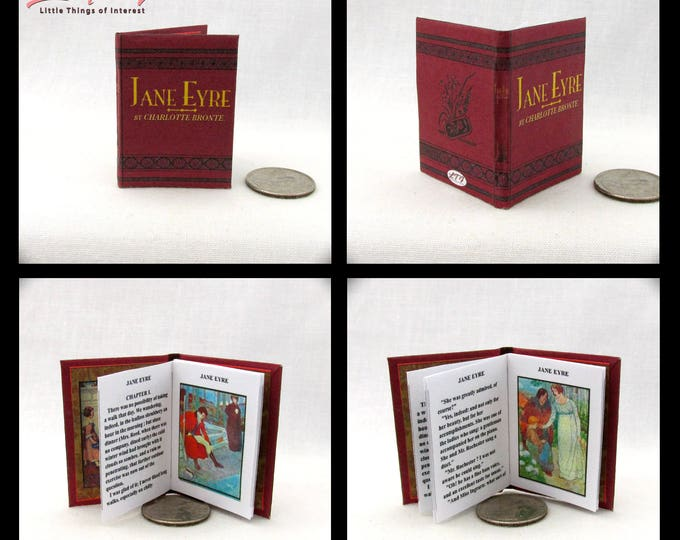 1:6 Scale JANE EYRE by Charlotte Brontë Illustrated Readable Book Barbie Scale Poor Young Teacher Rich Mr Rochester Love Story Sadness