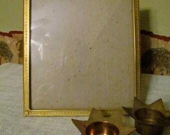 Vintage 8 x10 heavy Gold Metal Frame