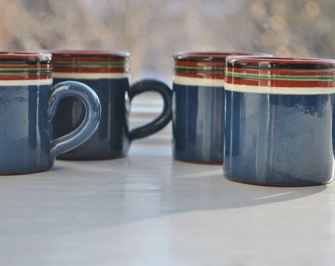 Swedish Nittsjo Vintage Glogg Cups Art Pottery Coffee Espresso