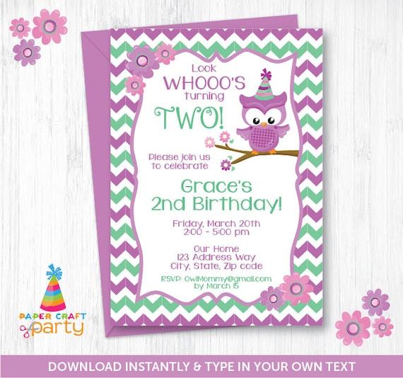 Owl invitation printable owl birthday invite instantly download il570xn filmwisefo