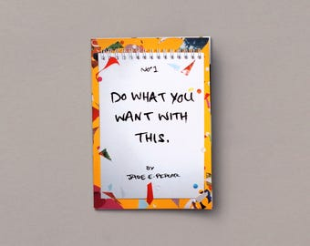 Do What You Want With This Activity Zine- Collage, draw, fill-in playbook
