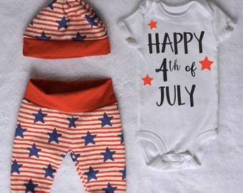 4th of July baby boy outfit Independence day Coming home outfit summer Baby boy outfit July fourth Going home outfit July 4th outfit baby