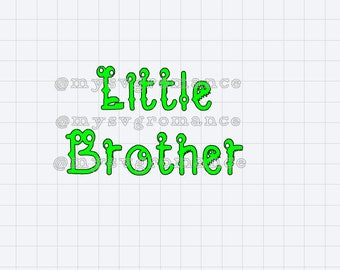 Little Brother - Cute Monster Font - SVG - Cutting File - Cricut - Cameo