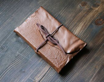 Rusty Brown Leather Sketchbook with Bristol Paper