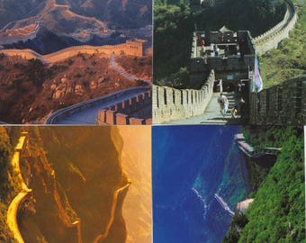 4 postcards of the Great Wall China