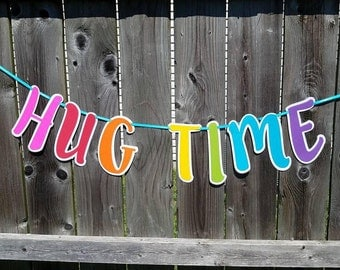 Hug Time Banner, Trolls Party, Troll Hug Time, Princess Poppy and Branch, Troll Decor, Trolls Banner, Trolls Birthday, Hug Time, Birthday