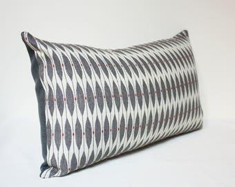Leaf dot white Designer pillow cover, Gray white pillow cover