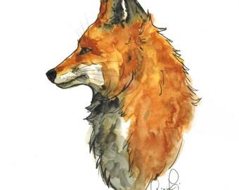 Red Fox (original watercolor)