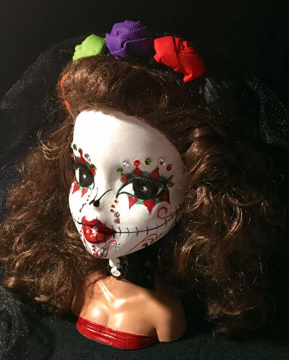 Bratz Bust Original Sugar Skull Day Of The Dead Dia De Los Muertos Undead Biohazard Bust