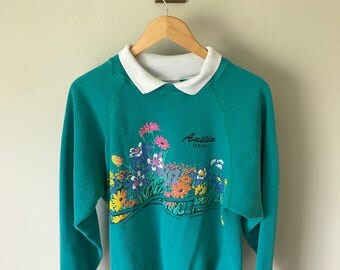 1990 Floral Austin Sweater