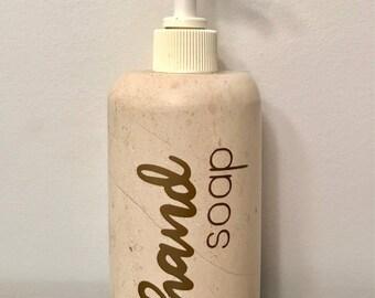 Hand Soap Gold Vinyl Label, Essential Oil Soap Label